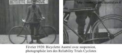 Austral, vélo suspendu 1920