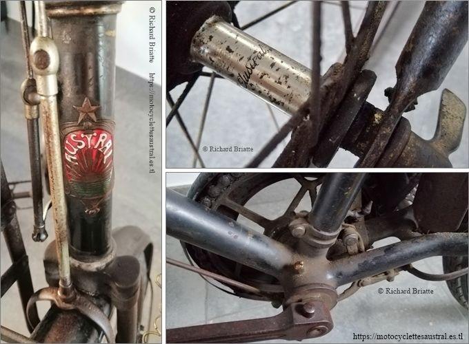 Vélo Austral pour hommes, années 1920, propriété R. Briatte. Quelques détails