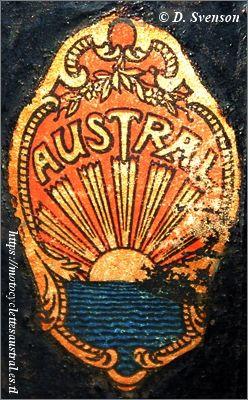 décalcomanie avec logo Austral