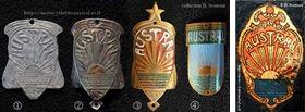 plaques de cadre et décalcomanie avec le logo Austral