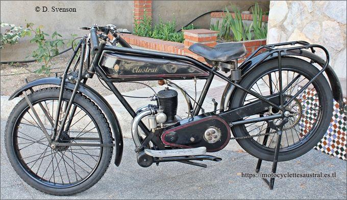 motocyclette Austral GT26, 1926, propriété Dominique