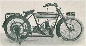 Austral motocyclette type B à transmission par chaîne