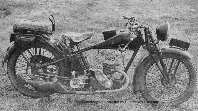 motocyclette Austral, 1929, modèle D27-2 à moteur LMP 2 temps
