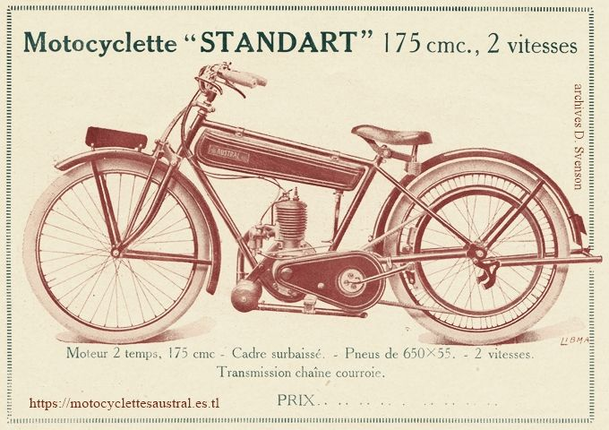motocyclette Austral type standard 1927.