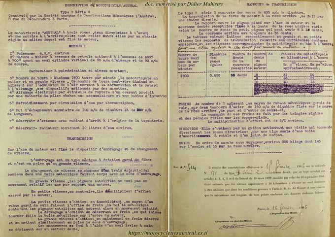 Dossier des Mines, tricar Austral type B série 2