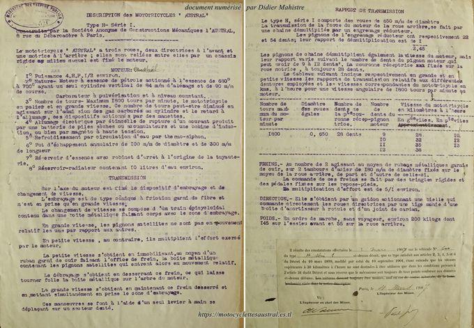 Dossier des Mines, tricar Austral type H série 1