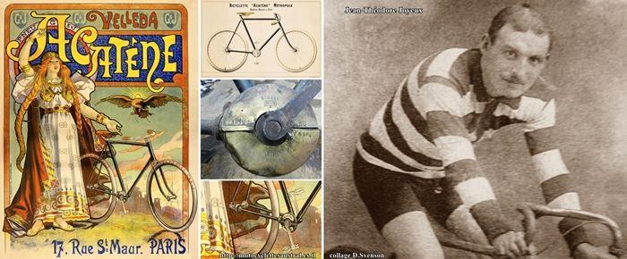 Théodore Joyeux, de Castillonès, accomplit le Tour de France sur bicyclette acatène en 1885