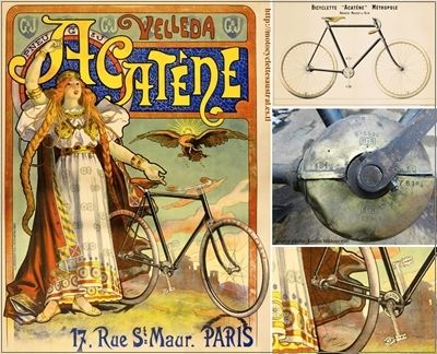 la transmission acatène. Bicyclette Métropole Velleda