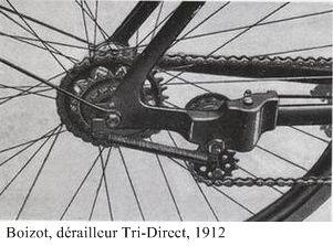 Le dérailleur Tri-Direct de Charles Boizot, 1912