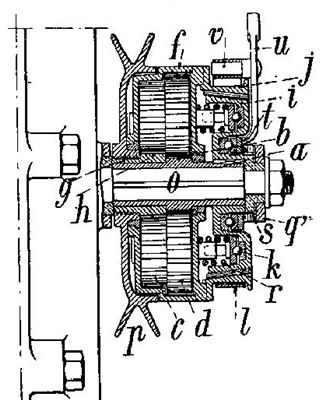 dessin du changement de vitesse Bozier, breveté en 1904