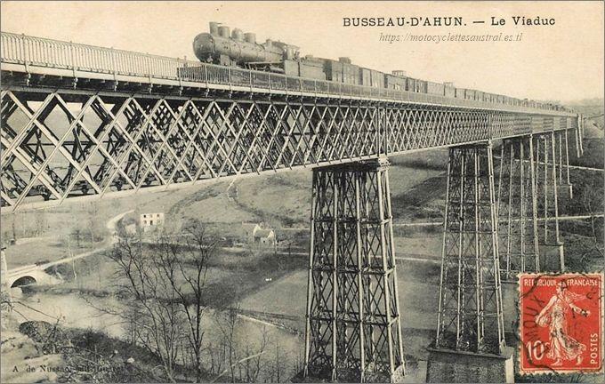 le viaduc de Busseau - d'Ahun, construit par Cail en 1864