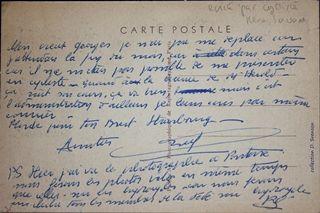 carte postale écrit par René Savard