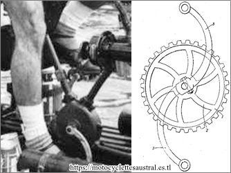 Pédalier courbé Léon Chandèze sur la Nautilette de René Savard 1930