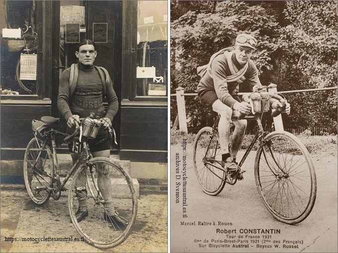 Hennuyer et Constantin avec leurs bicyclettes Austral