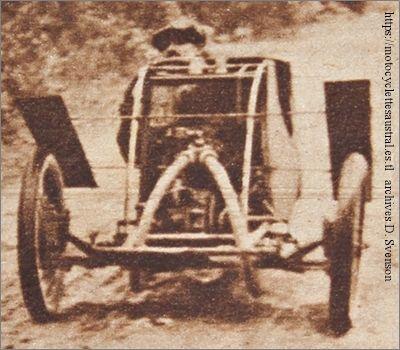 Chéret participe à la Coupe de l'Armistice en novembre 1928 dans un cyclecar Austral