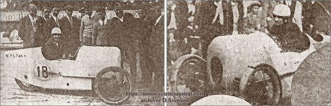 Cheret dans le cyclecar Zed LMP en 1928 à Gaillon et Arpajon