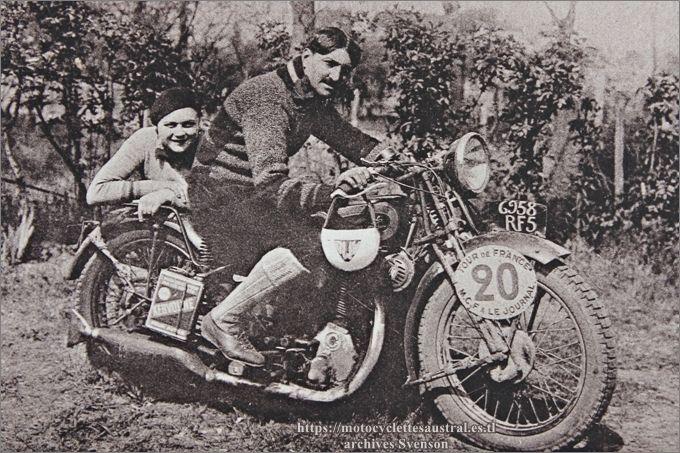 Etienne Chéret sur 350 Gillet Herstal, lors du Bol d'Or ou du Tour de France en 1932