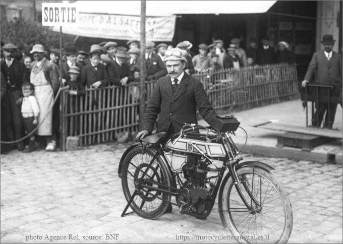 1912 Bernadou Dacier avec une Alcyon, Le Mans