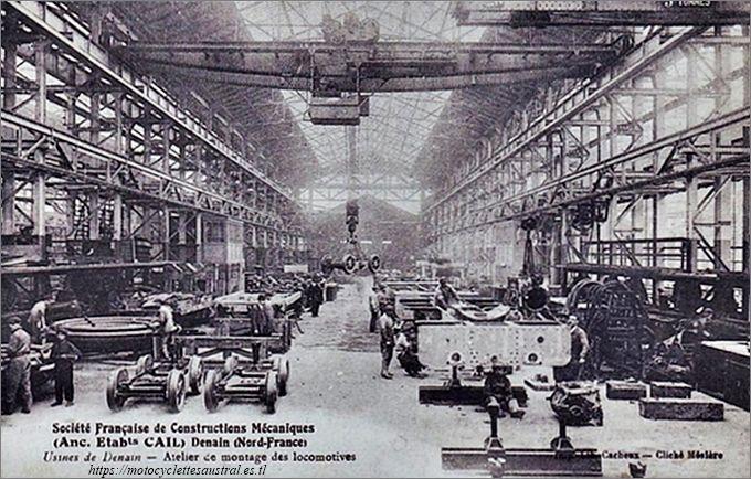 Cail et Cie, l'usine de fabrication de locomotives a Denain