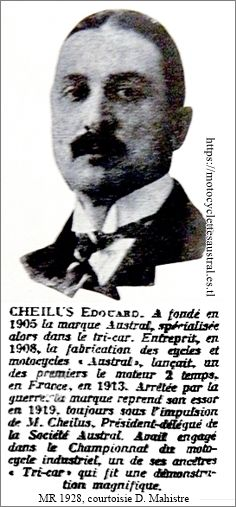 Edouard Cheilus, portrait 1928