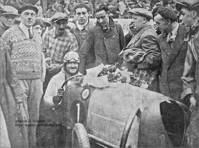 Chéret dans le cyclecar Sphinx-Staub, vainqueur au Bol d'or 1932