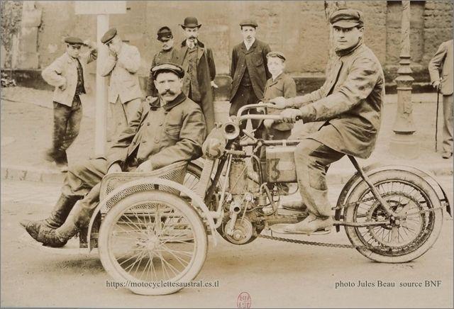 Giraud sur tricar Bozier licence Austral, 1905