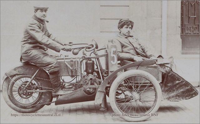 Etienne Giraud, Tour de France 1906, sur tricar Austral, moteur De Dion-Bouton