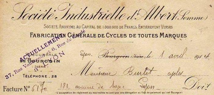 Société Industrielle d'Albert, succursale à Bourgoin
