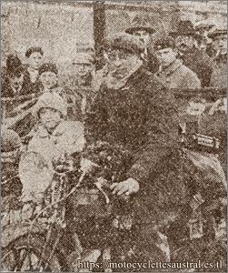 Flahaut, 1928 Six Jours d'Hiver sur moto Austral D 27