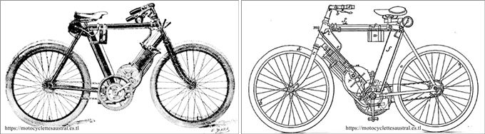 1898, bicyclette à petrole Gautier-Wehrlé