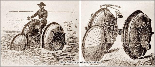 vélocipède nautique de Georg Pinkert, 1894