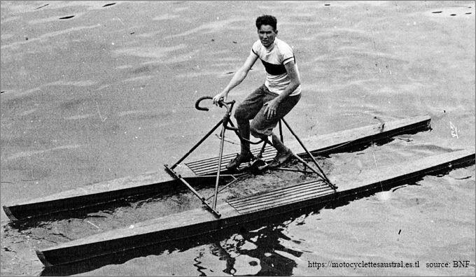 le stayer Gatier sur un vélo nautique en 1929