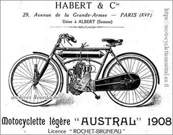 motocyclette légère Austral Habert et Cie, 1908