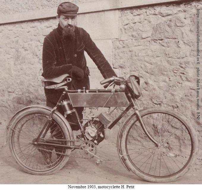 motocyclette H. Petit