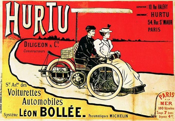 Affiche Hurtu, Diligeon et Cie, constructeurs