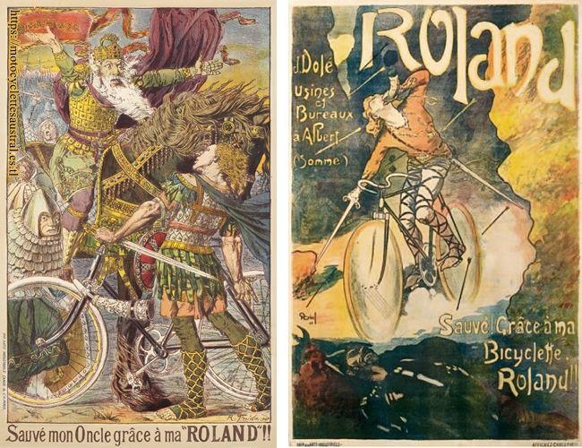 deux affiches cycles Roland, J.Dolé, Albert, Somme