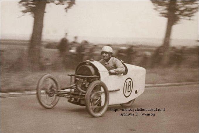 Chéret dans le cyclecar 1928