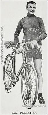 Pelletier avec bicyclette Austral, 1922