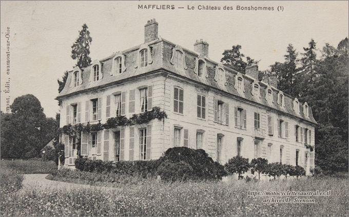 Maffliers, Château des Bonshommes, vers 1900, villégiature des familles du Plessis, Lefébure de Saint-Maur et Cheilus.