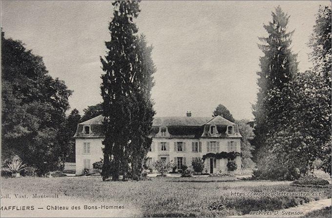Maffliers, Château des Bonshommes (ou bien: des Bons-Hommes) dans le forêt de l'Isle-Adam
