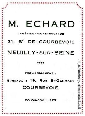 Marcel Echard adresse 1894