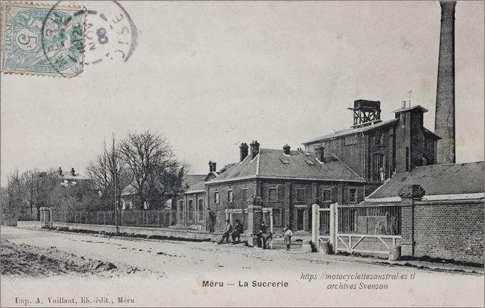 La sucrerie de Méru. CP voyagée en 1906