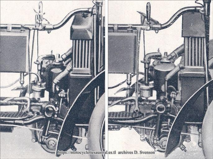 Le moteur Austral sur le tricar type H, série 1, 1907