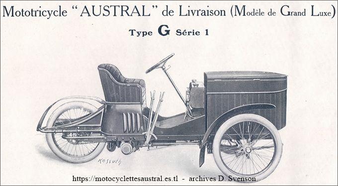 Austral Tricar de livraison type G, série 1, 1907