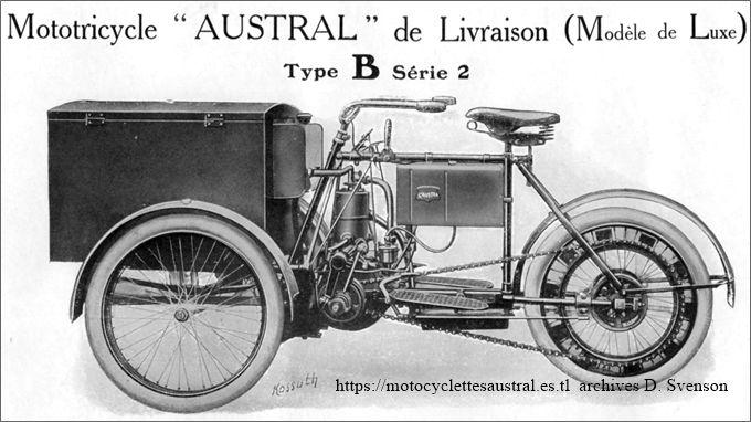 1906 Austral tricar type B deuxième série