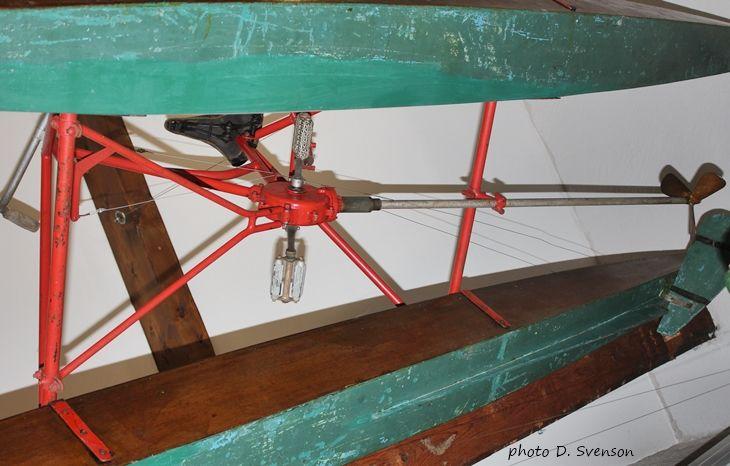 Nautilette Austral au Musée du Léman. Vue par le bas