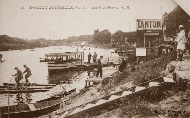 Joinville, quai de la Marne, passerelle d'embarquement du casino Tanton avec 3 Nautilettes