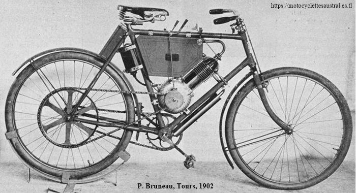 Paul Bruneau et Cie, Tours, motocyclette 1902