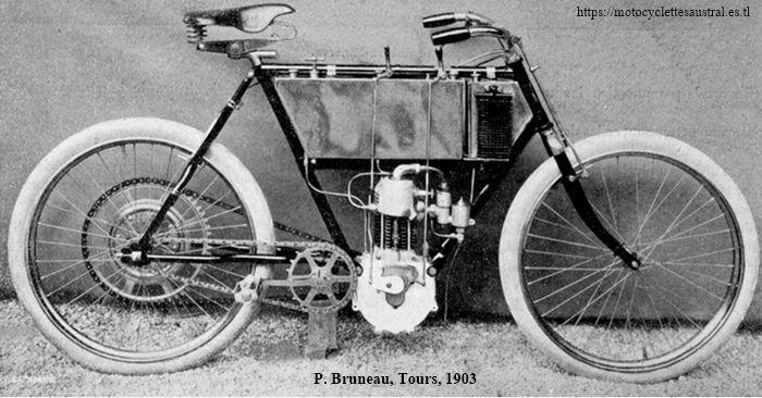 Paul Bruneau et Cie, Tours, motocyclette 1903