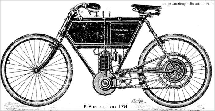 Paul Bruneau et Cie, Tours, motocyclette 1904